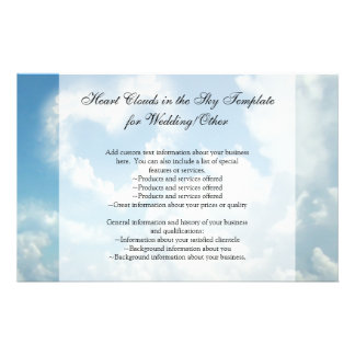 Heart in the Clouds, Blue Sky Romantic Love Flyer