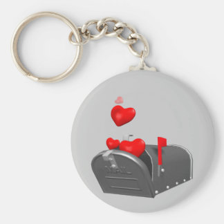 Heart In The Mail T-shirts and Gifts Basic Round Button Key Ring