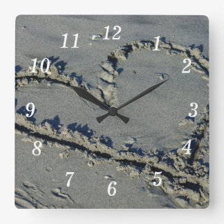 Heart In The Sand Clocks