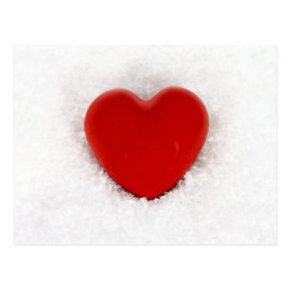 Heart in the snow postcard