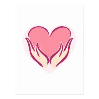 heart in your hands postcard