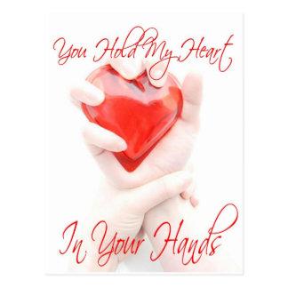 Heart in Your Hands (Valentine) Postcard