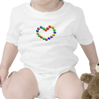 Heart Infant Creeper T-shirt