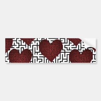 Heart is a Maze Bumper Sticker