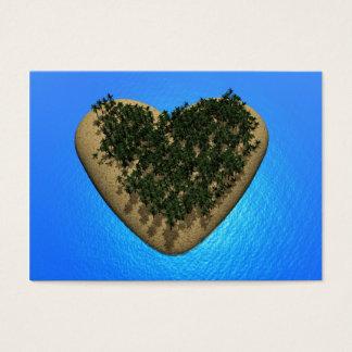 Heart island - 3D render