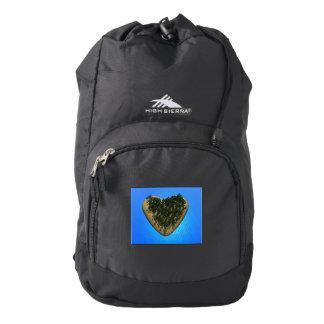 Heart island - 3D render Backpack