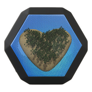 Heart island - 3D render Black Bluetooth Speaker