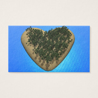 Heart island - 3D render Business Card