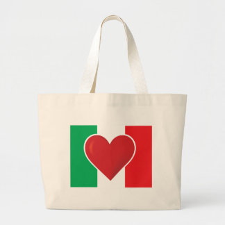 Heart Italy Flag Bags