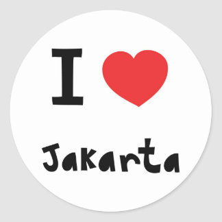 Heart Jakarta Classic Round Sticker