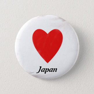 Heart Japan 6 Cm Round Badge