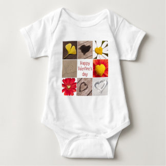 Heart joining Happy Valentine' S day Baby Bodysuit