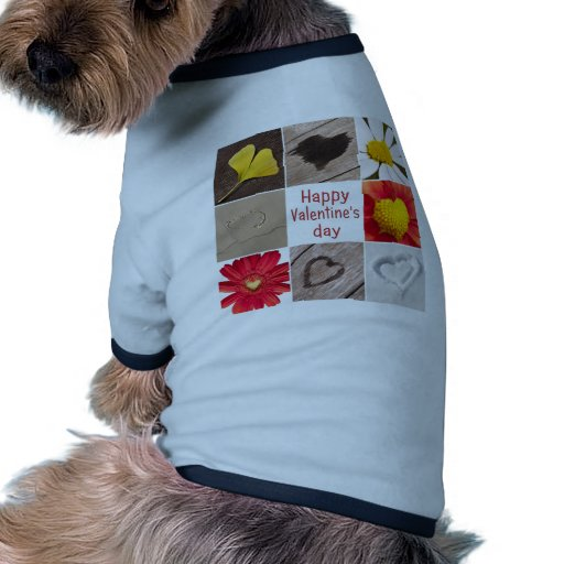 Heart joining Happy Valentine' S day Pet Tshirt