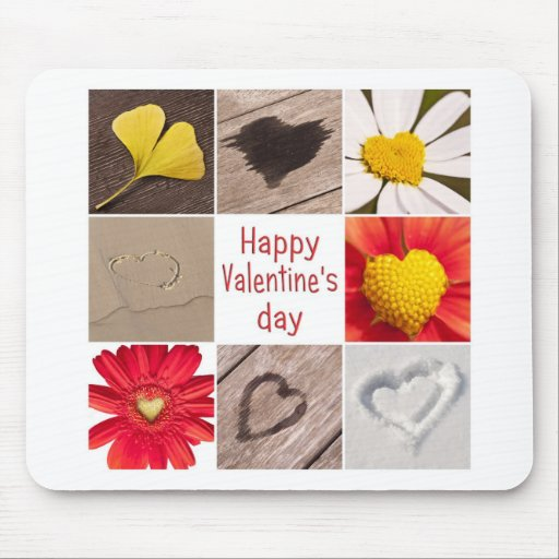 Heart joining Happy Valentine' S day Mousepads