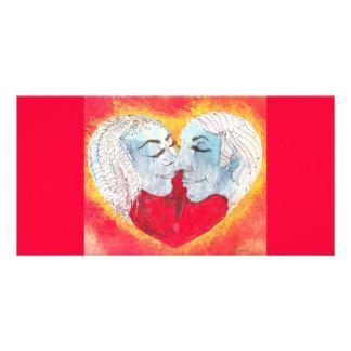 heart, kiss, photocard customized photo card