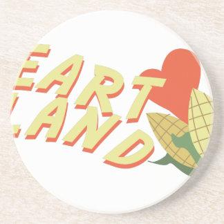 Heart Land Beverage Coaster