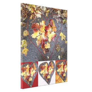 Heart Leaf Group 1 Canvas Print