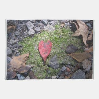 Heart Leaf kitchen towel
