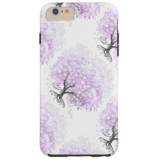 Heart Leaf Lavender Tree Vintage Bird Wedding Tough iPhone 6 Plus Case