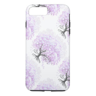 Heart Leaf Lavender Tree Vintage Bird Wedding iPhone 7 Plus Case