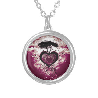 Heart & Life Tree silver necklace