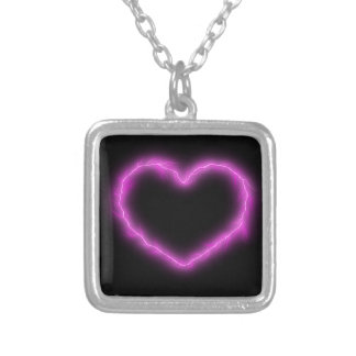 Heart Lightning Silver Plated Necklace