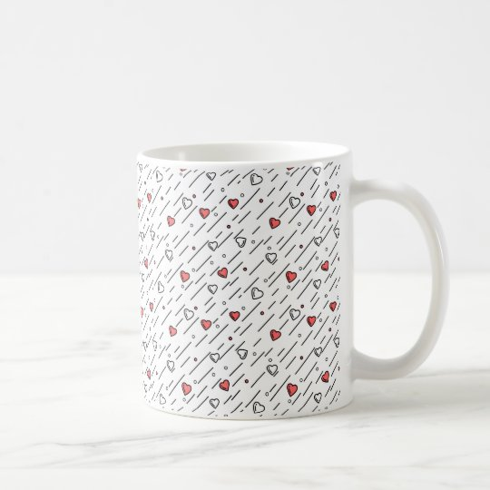 Heart lines coffee mug