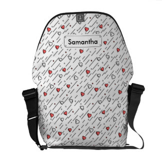 Heart lines courier bags