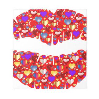 Heart Lips Notepads