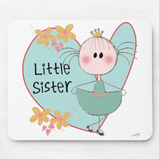 Heart Little Sister Mouse Pads