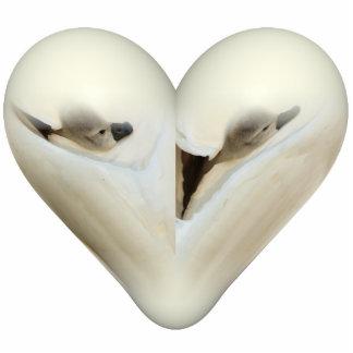 heart little swan photo sculpture key ring