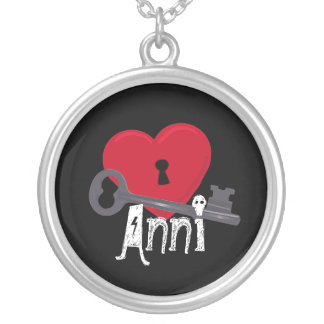 Heart Lock and Key Personalized Pendant
