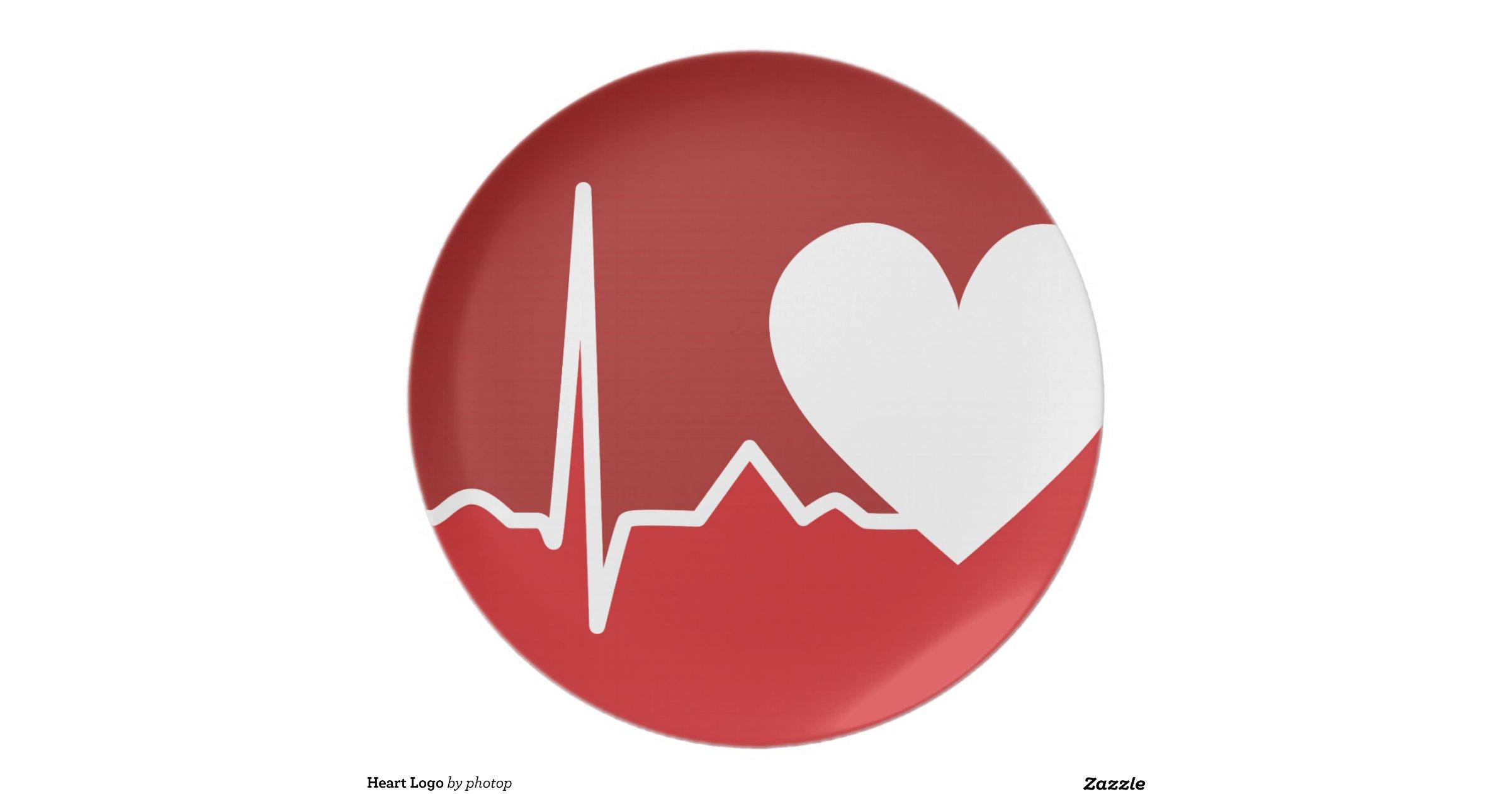 Heart Logo Dinner Plates   Zazzle