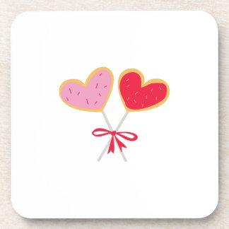 Heart Lollipop Beverage Coaster