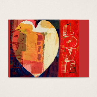 Heart Love Abstract Valentine's Day Heart ACEO Business Card