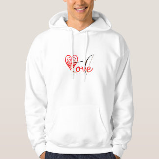 Heart love Dartscheibe with arrow and sheet Hoodie