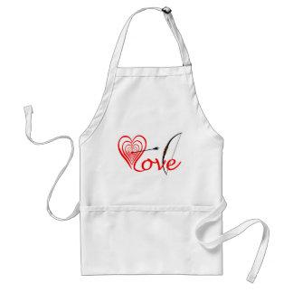 Heart love Dartscheibe with arrow and sheet Standard Apron