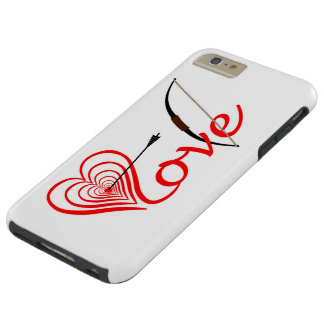 Heart love Dartscheibe with arrow and sheet Tough iPhone 6 Plus Case