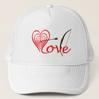 Heart love Dartscheibe with arrow and sheet Trucker Hat