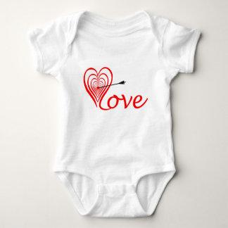 Heart love Dartscheibe with arrow Baby Bodysuit