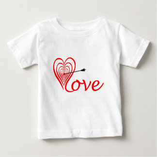Heart love Dartscheibe with arrow Baby T-Shirt