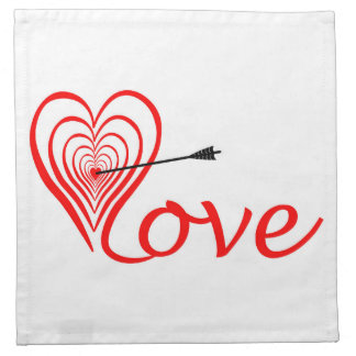 Heart love Dartscheibe with arrow Napkin