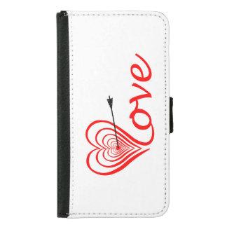 Heart love Dartscheibe with arrow Samsung Galaxy S5 Wallet Case