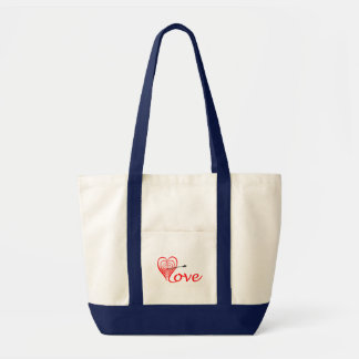 Heart love Dartscheibe with arrow Tote Bag