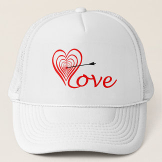 Heart love Dartscheibe with arrow Trucker Hat