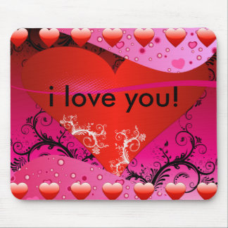 Heart Love Design Mouse Pad