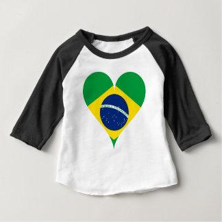 Heart Love Flag Brazil Heart Shaped Baby T-Shirt
