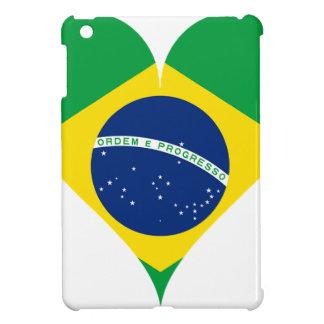 Heart Love Flag Brazil Heart Shaped Case For The iPad Mini