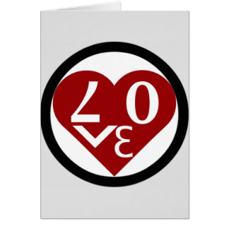 """Heart Love greeting card """"Be My Valentine"""""""