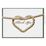 Heart Love Knot Western Wedding Thank You card